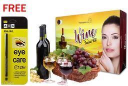 Professional Feel Wine FacialKit (250g) Free Ads Kajal (Pack Of 2)
