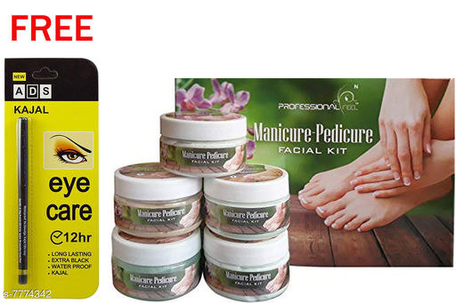 Professional Feel Manicure Pedicure FacialKit (250g) Free Ads Kajal (Pack Of 2)