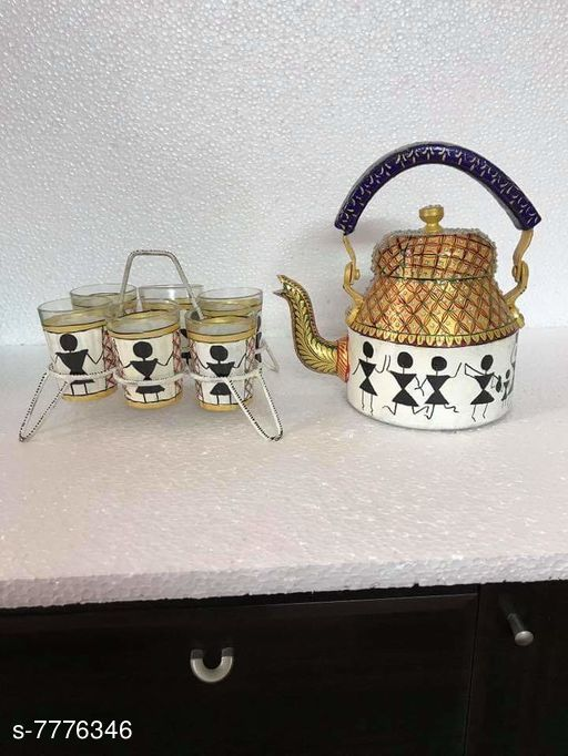 Kettles  Hand Painted Kettle with Serving Hand Painted Kettle with Serving  *Sizes Available* Free Size *   Catalog Rating: ★3 (4)  Catalog Name: Hand printed Kettle with Serving Tray CatalogID_1269148 C104-SC1486 Code: 6461-7776346-