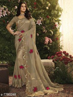 Trendy Embroidery Saree