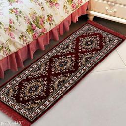 NFI essentials Bed Side Runner Mat   Floor Runner   Kitchen Mat in Velvet Material   Size : 51x168
