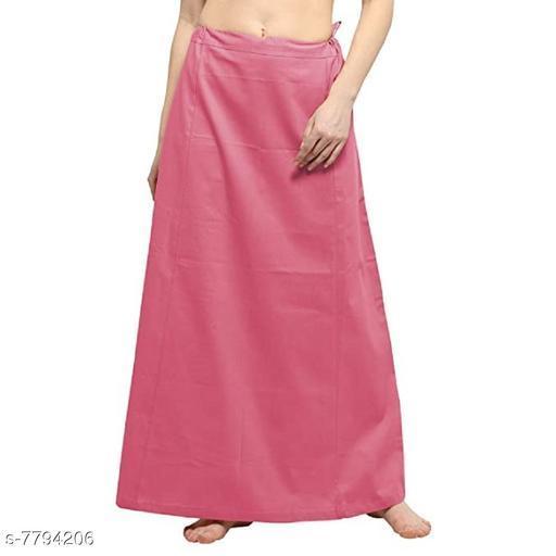 ITZ ODD Fashion Cotton  Pink Petticoat