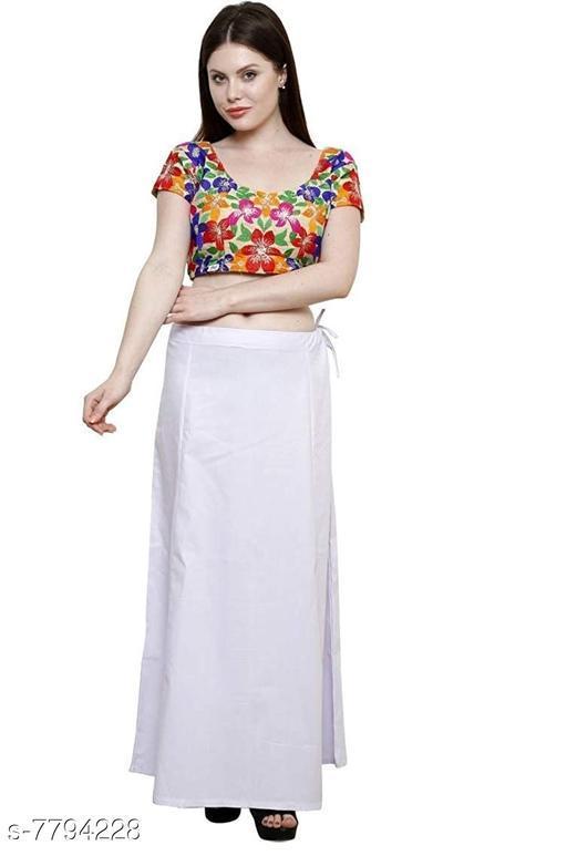 ITZ ODD Fashion Cotton  White Petticoat