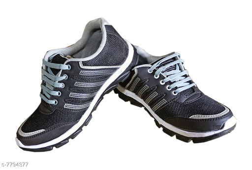 Sports Shoes Sports Shoes,Gym Shoes,Training Shoes,Sports Shoes,Walking Shoes for Men   *Material* Synthetic  *Sole Material* EVA  *Fastening & Back Detail* Lace-Up  *Pattern* Printed  *Multipack* 1  *Sizes*  IND-6  *Sizes Available* IND-6, IND-7, IND-8, IND-9 *    Catalog Name: Unique Fabulous Men Sports Shoes CatalogID_1273959 C67-SC1237 Code: 365-7794377-996
