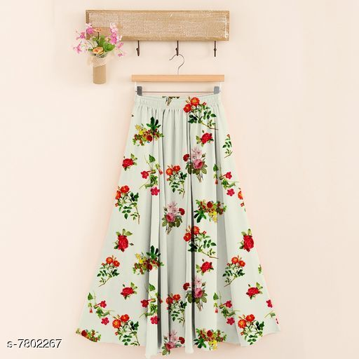 Skirts Aagam Fashionable Women Ethnic Skirts  *Fabric* Poly Rayon  *Pattern* Printed  *Multipack* 1  *Sizes*   *Free Size (Waist Size* UP To 30 in To 36 in, Length Size  *Sizes Available* Free Size *    Catalog Name:  Aagam Fashionable Women Ethnic Skirts CatalogID_1275483 C79-SC1040 Code: 644-7802267-