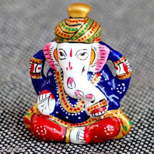 Vaastu Showpieces Navya Creation lord Ganesha Decorative Showpiece  -  0.7 cm (Metal, Multicolor)  *Material* Metal  *Pack* Pack of 1  *Size* Free Size  *Sizes Available* Free Size *    Catalog Name: Essential Divine Stickers CatalogID_1275663 C139-SC1680 Code: 092-7802555-