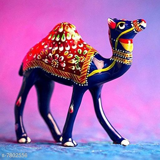 Vaastu Showpieces Navya Creation Decorative Camel Showpiece  -  12.7 cm (Metal, Multicolor)  *Material* Metal  *Pack* Pack of 1  *Size* Free Size  *Sizes Available* Free Size *    Catalog Name: Essential Divine Stickers CatalogID_1275663 C139-SC1680 Code: 534-7802556-