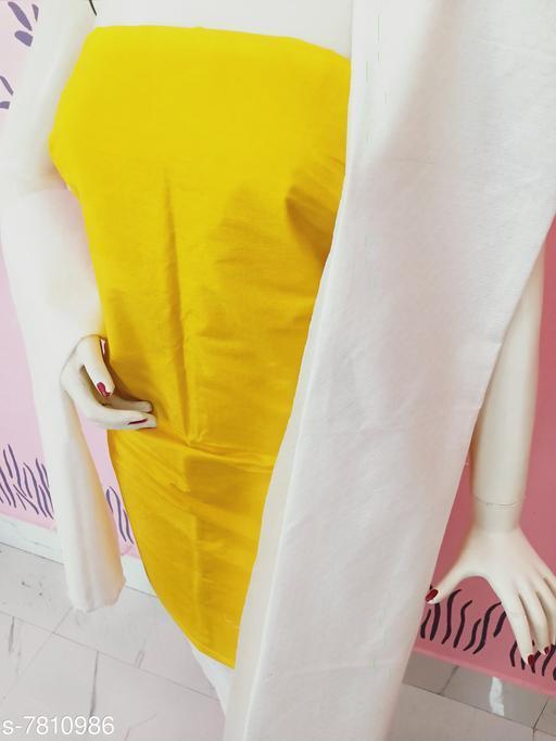 Kurti Fabric Classy Women Kurti Fabrics Kurti Fabric. Soft Cotton  *Dupatta Fabric * Cotton  *Pattern* Solid  *Multipack* 1  *Sizes*   *Un Stitched (Kurti Fabric Length Size* 2.5 m, Dupatta Fabric Length Size  *Sizes Available* Un Stitched *    Catalog Name: Aagam Graceful Kurti Fabrics CatalogID_1277445 C74-SC1326 Code: 883-7810986-