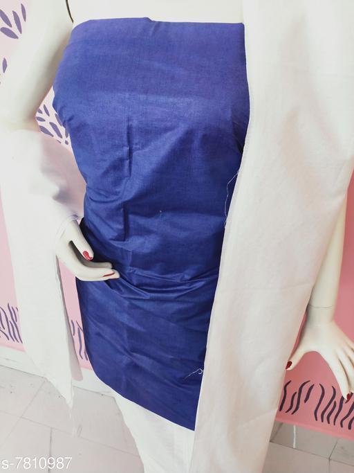Kurti Fabric Classy Women Kurti Fabrics Kurti Fabric. Soft Cotton  *Dupatta Fabric * Cotton  *Pattern* Solid  *Multipack* 1  *Sizes*   *Un Stitched (Kurti Fabric Length Size* 2.5 m, Dupatta Fabric Length Size  *Sizes Available* Un Stitched *    Catalog Name: Aagam Graceful Kurti Fabrics CatalogID_1277445 C74-SC1326 Code: 863-7810987-