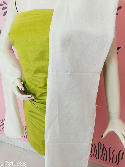 Kurti Fabric Classy Women Kurti Fabrics Kurti Fabric. Soft Cotton  *Dupatta Fabric * Cotton  *Pattern* Solid  *Multipack* 1  *Sizes*   *Un Stitched (Kurti Fabric Length Size* 2.5 m, Dupatta Fabric Length Size  *Sizes Available* Un Stitched *    Catalog Name: Aagam Graceful Kurti Fabrics CatalogID_1277445 C74-SC1326 Code: 883-7810988-