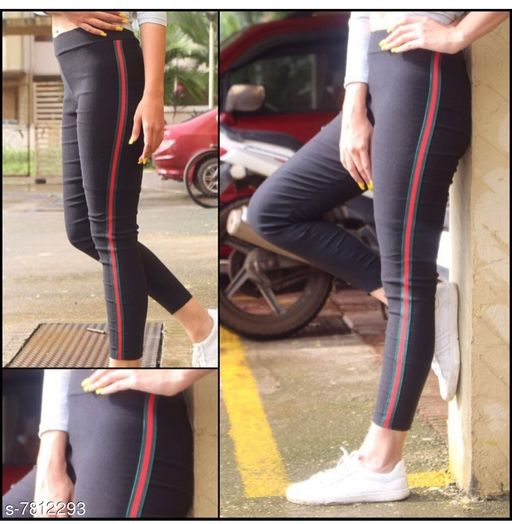 Side Green Ride Stripe Yoga Gym Workout and Active Sports Fitness Legging Tights
