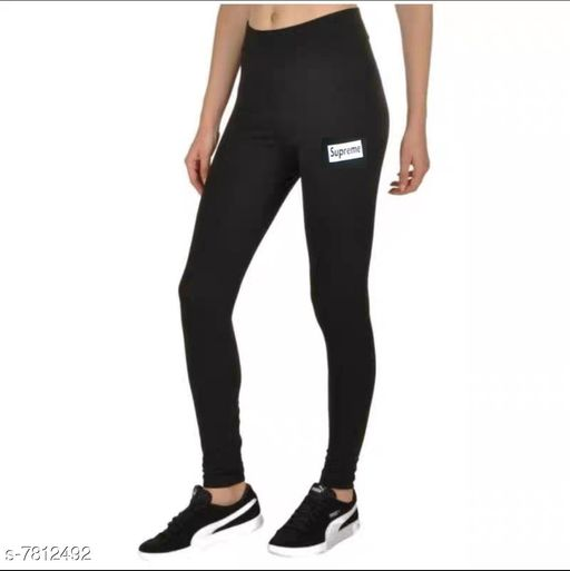 SUPREME Design Black Yoga Gym Workout and Active Sports Fitness Legging Tights