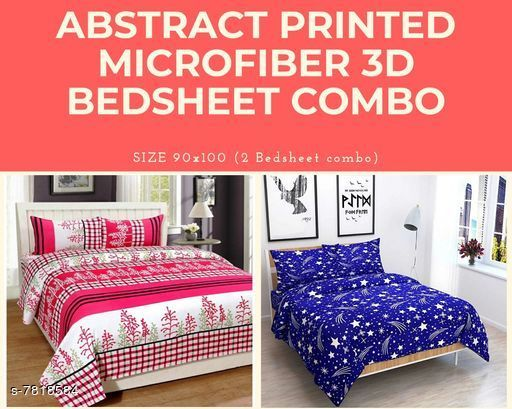 Trendy Cotton 100 X 90 Double Bedsheet