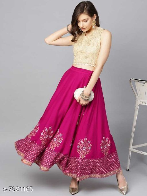Ethnic Bottomwear - Skirts Ethnic Bottomwear - Skirts  *Material * Rayon  *Pattern * Printed  *Multipack * 1  *Sizes *   *30 ( Waist Size * 30 in , Length Size  *32 ( Waist Size * 30 in , Length Size  *34 ( Waist Size * 30 in , Length Size  *36 ( Waist Size * 30 in , Length Size  *Sizes Available* Free Size, 28, 30, 32, 34, 36, 38, 40, 42, 44 *   Catalog Rating: ★3.7 (71)  Catalog Name: Ethnic Bottomwear - Skirts CatalogID_1265473 C74-SC1013 Code: 703-7821165-