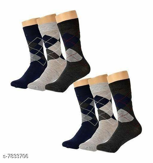 Trendy Men's Cotton Socks