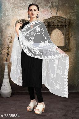 net with full embroidery  dupatta