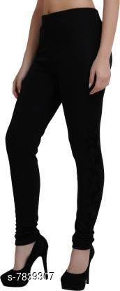 Icable Women Woolen Warm Leggings with Thick Fur Lined