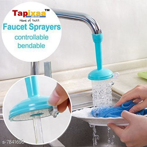 Tapixaa ABS and PVC Plastic Tap Filter Shower Sprinkler Faucet for Kitchen Sink (Multicolour)