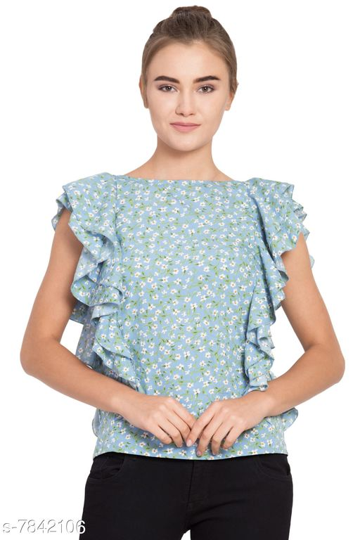 Tops & Tunics Trendy Women's Western Wear Tops  *Fabric* American Crepe  *Sleeve Length* Sleeveless  *Pattern* Printed  *Multipack* 1  *Sizes*   *XL (Bust Size* 42 in, Length Size  *L (Bust Size* 40 in, Length Size  *M (Bust Size* 38 in, Length Size  *Sizes Available* M, L, XL *    Catalog Name: Trendy Women's Western Wear Tops CatalogID_1284992 C79-SC1020 Code: 293-7842106-