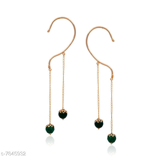 Earrings & Studs Beautiful Ear Cuffs Hangings  *Base Metal* Brass & Copper  *Plating* Rhodium Plated  *Stone Type* Onyx  *Sizing* Non-Adjustable  *Type* Ear Cuff  *Sizes Available* Free Size *    Catalog Name: Allure Unique Earrings CatalogID_1285951 C77-SC1091 Code: 772-7845932-