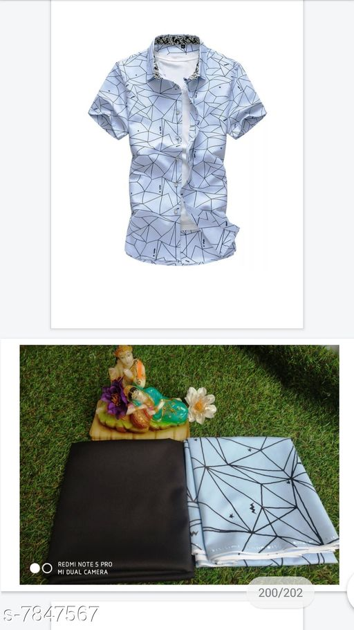 Top and Bottom Fabric NEW PRITED DESIGN FABRIC PAIR FOR MAN NEW PRITED DESIGN FABRIC PAIR FOR MAN  *Sizes Available* Shirt 2.25m/Pant 1.9m *    Catalog Name: Check out this trending catalog CatalogID_1286292 C70-SC1697 Code: 467-7847567-999