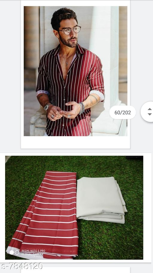Top and Bottom Fabric NEW PRITED DESIGN FABRIC PAIR FOR MAN NEW PRITED DESIGN FABRIC PAIR FOR MAN  *Sizes Available* Shirt 2.25m/Pant 1.9m *    Catalog Name: Check out this trending catalog CatalogID_1286410 C70-SC1697 Code: 467-7848120-999