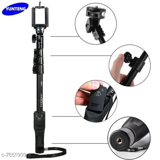 Mobile Enhancement DHQ_1288 Bluetooth selfie stick DHQ_1288 Bluetooth selfie stick  *Sizes Available* Free Size *    Catalog Name: Check out this trending catalog CatalogID_1287277 C99-SC1382 Code: 005-7851909-