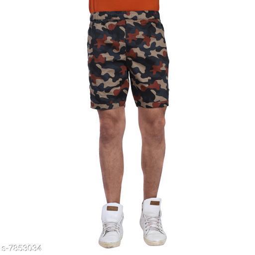 Army Printed Regular Cotton Shorts