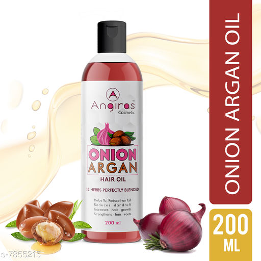 Herbal Products Angiras Onion Argan Hair Oil- To Promote Hair fall & Anti-dandruff 200ml(Pack of 1)   *Product Name* Angiras Onion Argan Hair Oil- To Promote Hair fall & Anti-dandruff 200ml(Pack of 1)  *Brand* Angiras  *Capacity* 200 ml Each  *Multipack* Pack Of 1  *Sizes Available* Free Size *    Catalog Name:  Angiras Onion Argan Hair Oil CatalogID_1288197 C50-SC1297 Code: 523-7855215-