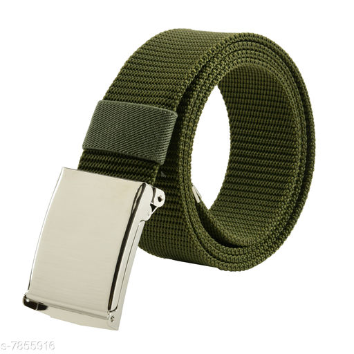 Winsome Deal Trendy Auto Lock, Canvas Belt for Men's