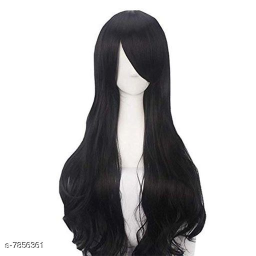 Hair Accessories  hair wig  *Material* Synthetic Fiber  *Color* Black  *Multipack* 1  *Size* Head Circumference 21.5Inch  *Sizes Available* Free Size *    Catalog Name:  Advanced Collection Hair Extensions CatalogID_1288512 C72-SC1088 Code: 7781-7856361-
