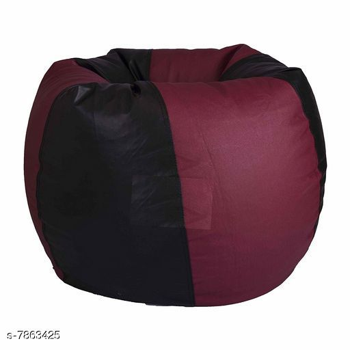 Bean Bags Trendy Bean bag cover Black and Marron Bean Bag cover   *Material* Leather  *Multipack* 1  *Sizes*  Free Size  *Sizes Available* Free Size *    Catalog Name: Fashionable Unique Bean Bags CatalogID_1290268 C117-SC1258 Code: 677-7863425-