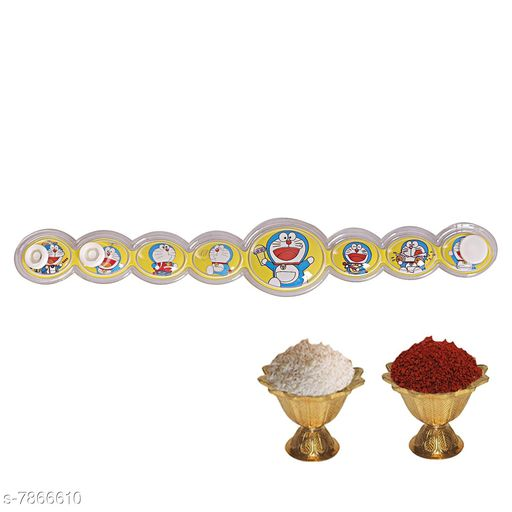 Rakhi roreomon Rakhi  *Multipack* 1  *Sizes* Free Size  *Sizes Available* Free Size *    Catalog Name: Diva Graceful Rakhi CatalogID_1291032 C77-SC1266 Code: 102-7866610-