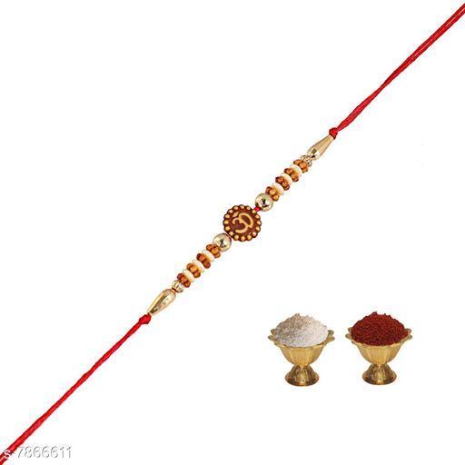 Rakhi  Om Rakhi   *Multipack* 1  *Sizes* Free Size  *Sizes Available* Free Size *    Catalog Name: Diva Graceful Rakhi CatalogID_1291032 C77-SC1266 Code: 102-7866611-