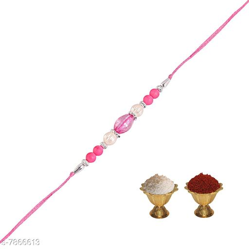 Rakhi  Pearl Rakhi   *Multipack* 1  *Sizes* Free Size  *Sizes Available* Free Size *    Catalog Name: Diva Graceful Rakhi CatalogID_1291032 C77-SC1266 Code: 102-7866613-