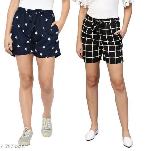 My Swag Women Combo Of 2  Regular Shorts