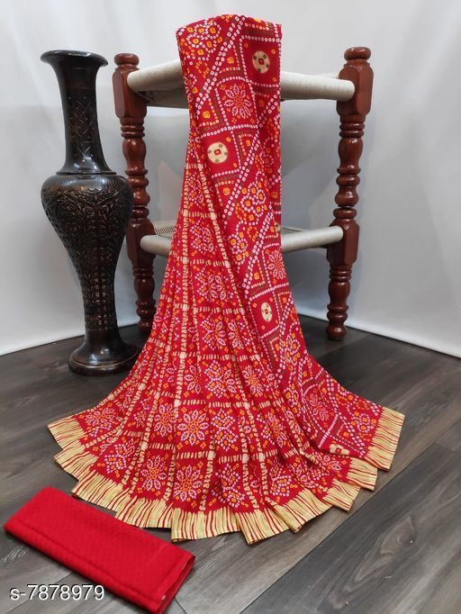 Beautiful Printed Synthetic Saree with blouse