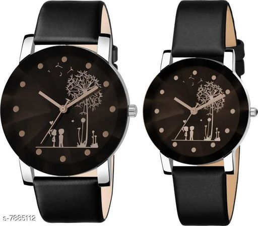 Skylark Classic Quartz Watch Student Couple Stylish Spire Glass Belt Quartz Analog Watch Analog Watch - For Men & Women
