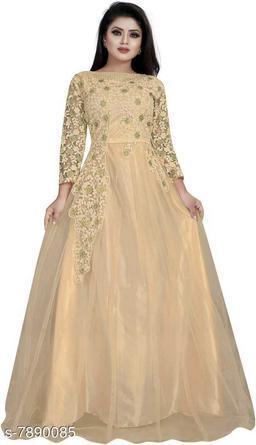 Women Net Anarkali Gown