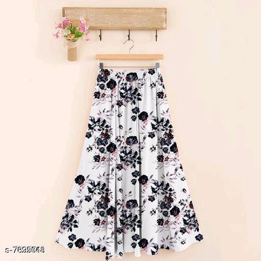 Elegant Rayon Women Skirt