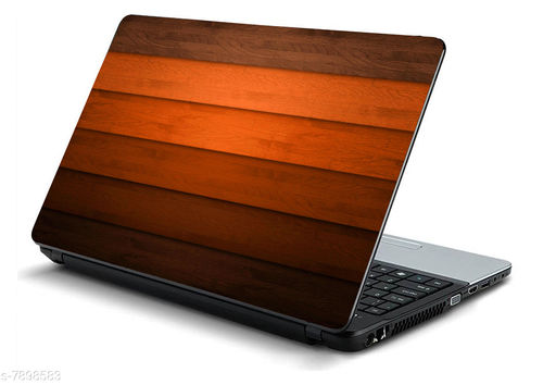 Studio Shubham wooden striped laptop skin for laptop dell,apple,hp & all other brands-models upto 15.6 inches/ Waterproof laptop skin cover / Laminated Laptop skin sticker cover