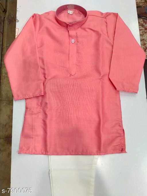 Kurta Sets KURTHA SETS  *Top Fabric* Cotton  *Bottom Type* dhoti pants  *Sizes*  2-3 Years  *Sizes Available* 2-3 Years *    Catalog Name: Modern Stylish Kids Boys Kurta Sets CatalogID_1298560 C58-SC1170 Code: 824-7900075-