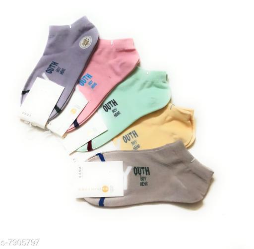 trendy  unisex socks -pack of 5