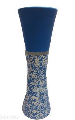 BLUE WOODEN FLOWER POT