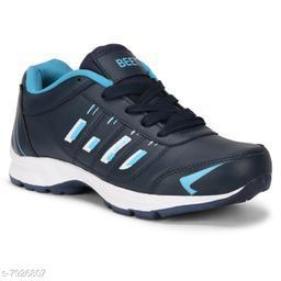 BEET LOOKS Men's Navy Sky Mesh Sports Running Shoes