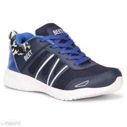 BEET LOOKS Men's Navy Blue Mesh Sports Running Shoes
