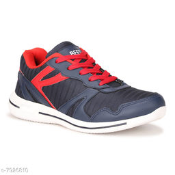BEET LOOKS Men's Navy Red Mesh Sports Running Shoes