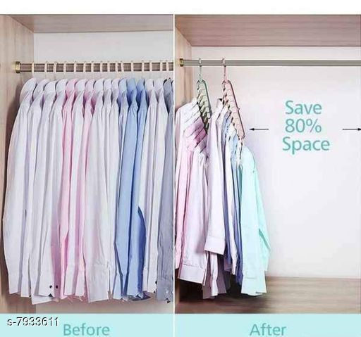 Apparel Storage 360° Rotating 9 Hole Hanger   *Material* Plastic  *Pack* 5  *Sizes* Free Size  *Sizes Available* Free Size *    Catalog Name: Trendy Clothes Hangers CatalogID_1305233 C131-SC1628 Code: 874-7933611-