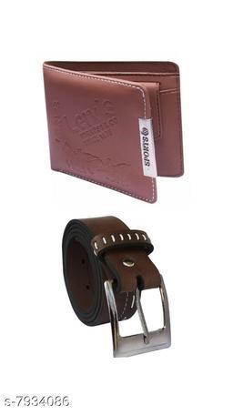 Trendy Men's Belt & Wallet Combo