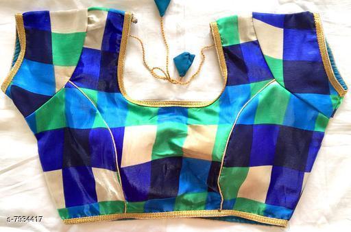 Ethnic Satin Silk Blouse